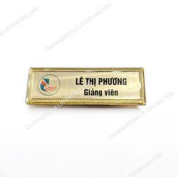thẻ nhân viên bằng đồng cài nam châm