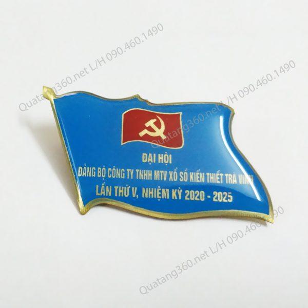 huy hiệu đại hội đảng khách mời