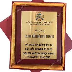 bảng chứng nhận bằng gỗ kim loại