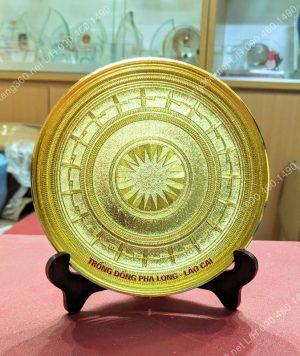 Quà tặng đĩa đồng mạ vàng